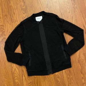 Katherine Barclay Black Mesh Jacket Small